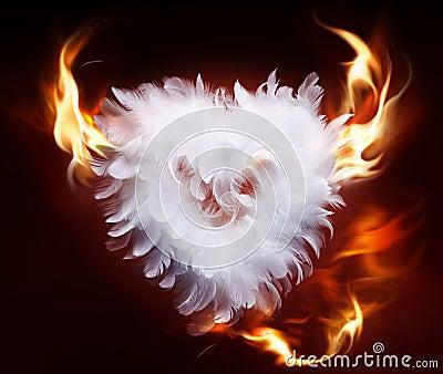 Art soft fluffy heart