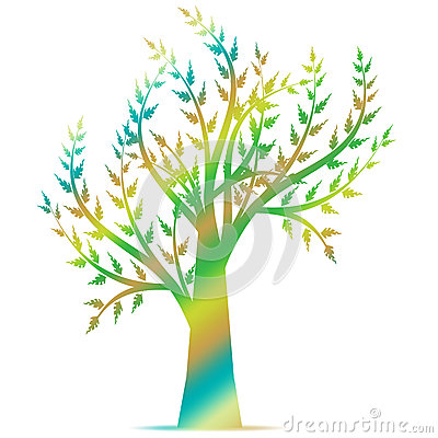 Art Tree Silhouette Stock Images - Image: 25310504