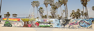 Art walls on Venice beach, Los Angeles