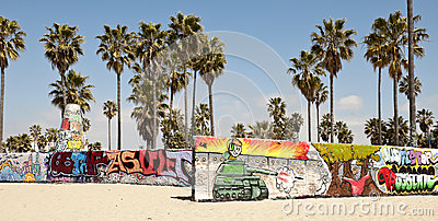 Art walls on Venice beach, Los Angeles
