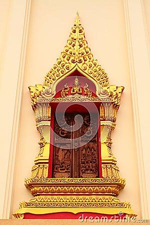 The art in window temple