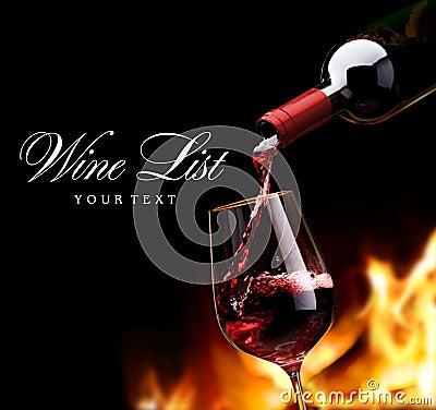 Free Art Wine List Stock Photo - 17942880