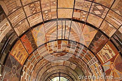 Arte aborigena del soffitto fotografie stock immagine for Arte aborigena
