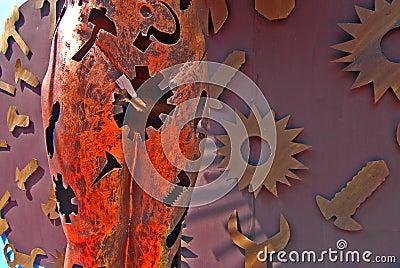Arte abstracto durante el festival de Durga