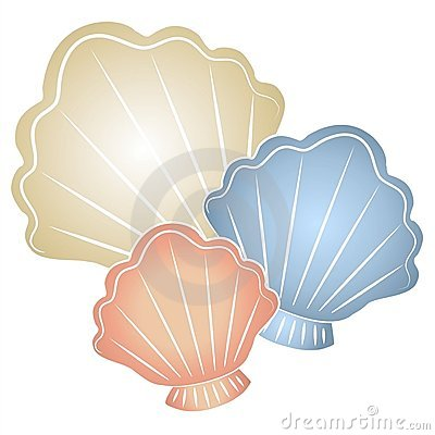 Arte de clip en colores pastel de los Seashells