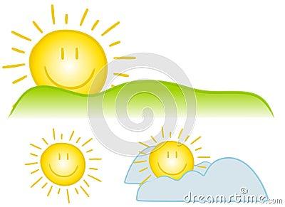 Arte de clip sonriente de Sun