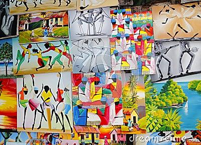 Arte del local de Jamaica el Caribe Fotografía editorial
