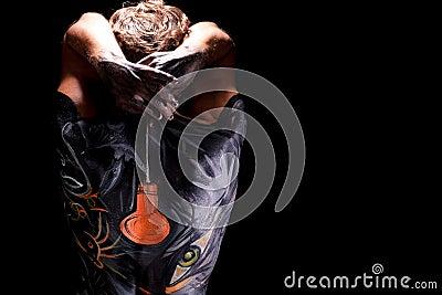 Arte di corpo sulla parte posteriore dell uomo