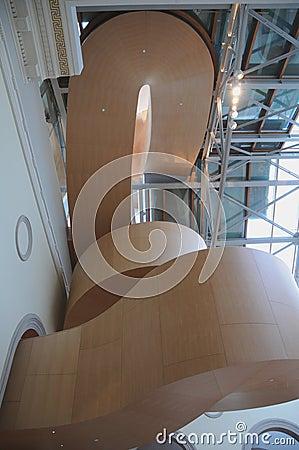 Arte Galler da escadaria 3 de Ontário Gehry Fotografia Editorial