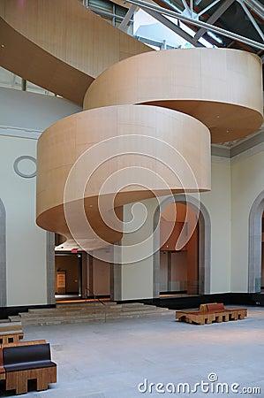 Arte Galler da escadaria de Ontário Gehry Imagem Editorial