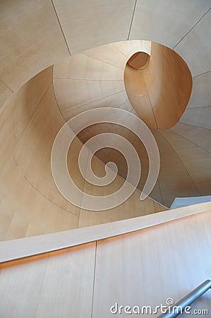 Arte Galler de la escalera 6 de Ontario Gehry Foto editorial
