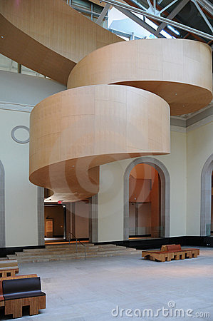 Arte Galler de la escalera de Ontario Gehry Imagen editorial