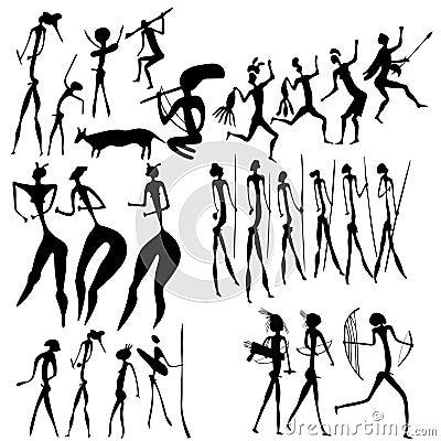 Arte primitivo - varias figuras