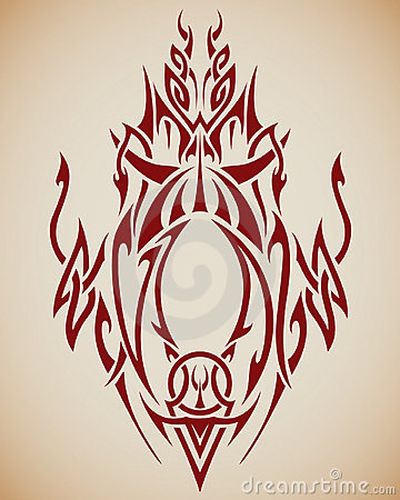 Arte tribal abstrata