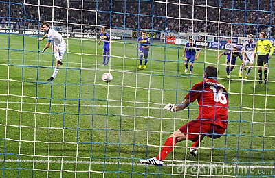 Artem Milevsky of Dynamo Kyiv misses the penalty Editorial Photography