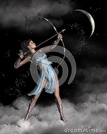 artemis新月形戴安娜女猎人月亮