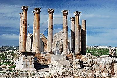 Artemis Temple, Jerash, Jordan