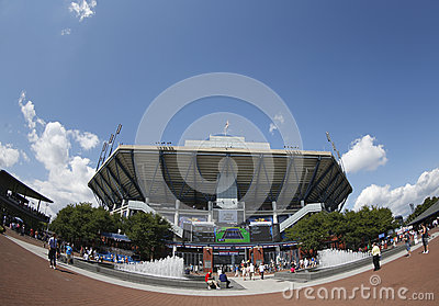 Arthur Ashe Stadium at the Billie Jean King National Tennis Center during  US Open 2013 Editorial Photography