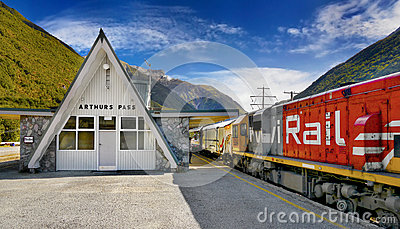 Arthurs Pass, Kiwi Rail Train, New Zealand