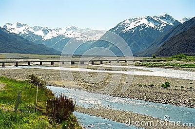 Arthur s Pass bridge, New Zealand