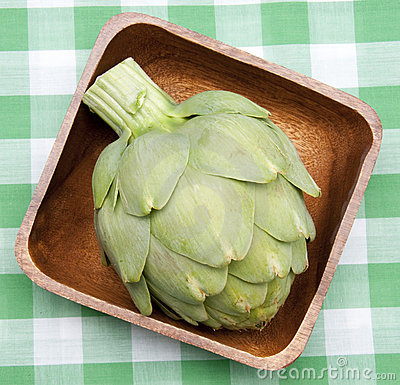 Artichoke on a Picnic Blanket.