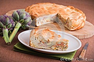 Artichoke Pie.