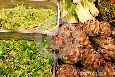 Artichoke and salad