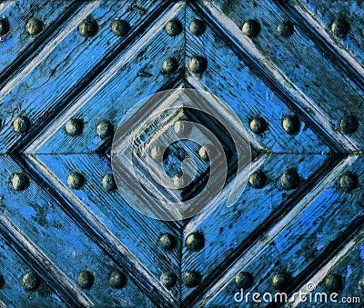 Artifact wooden door