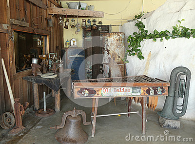 Artifacts at Old Belize Museum in Belize City Editorial Photography