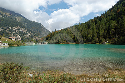 Artificial alpine lake