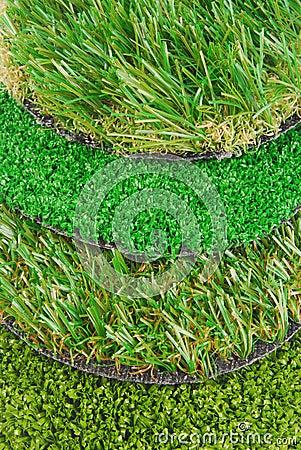 Artificial astro turf grass samples