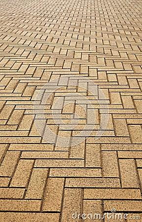 Artificial block pavement Stock Photo