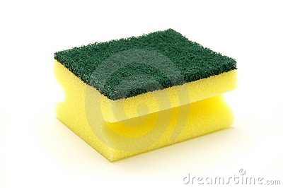 Artificial fibre sponge