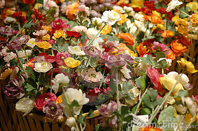 Artificial flowers on selling