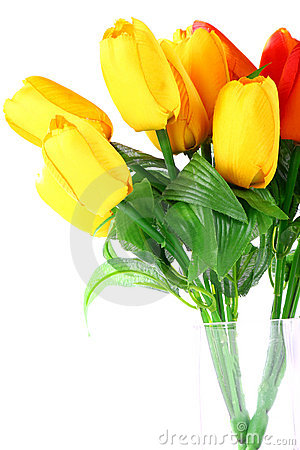 Free Artificial Flowers (tulip) Stock Images - 21663554