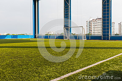 Artificial grass indoor soccer pitch