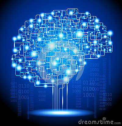 Free Artificial Intelligence Brain Royalty Free Stock Image - 29076006