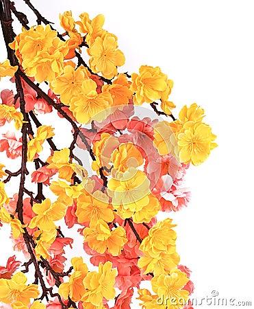 Artificial sakura witk flowers
