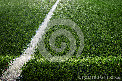 Artificial turf at soccer field