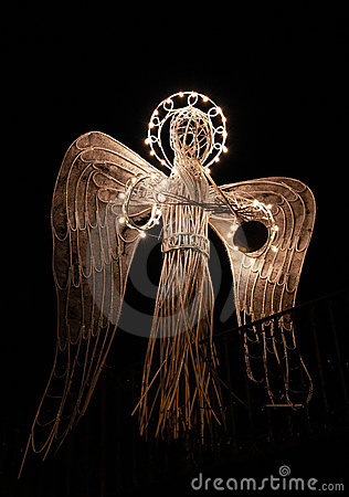 Artificial xmas angel