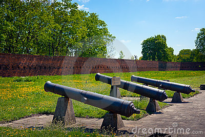 Artillery of Citadel in Warsaw