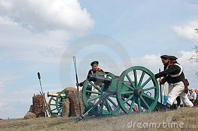Artillery. Crimean War Editorial Stock Image