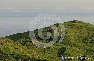 Artillery on the island of Askold