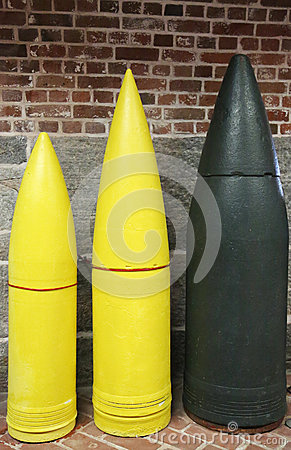 Artillery Projectiles: 10-inch, 12-inch and 16-inch Armor Piercings
