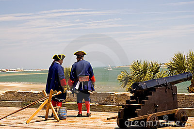 Artillery soldiers on guard