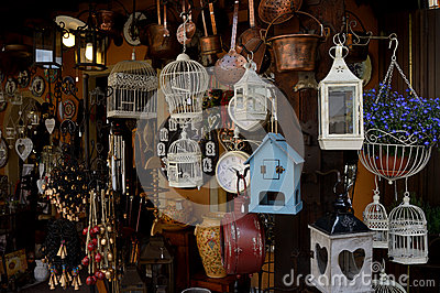 Artisan shop in a typical village in Italy