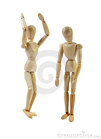 Free Artist Mannequin Grumbling Royalty Free Stock Photos - 20756228