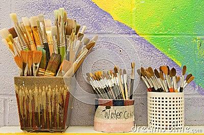 Artist paintbrushes