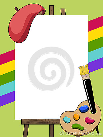 Artist Painter Frame Royalty Free Stock Photo Image