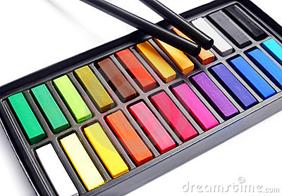Artist pastels charcoal pencil